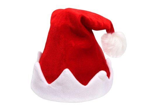Bonnet de Noël dansant et chantant rouge et blanc en peluche de qualité supérieure (wm-115 ...