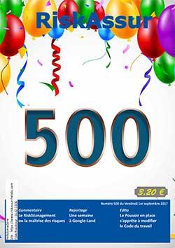 Photo de Numéro 500 du magazine RiskAssur-hebdo du 31 août 2017