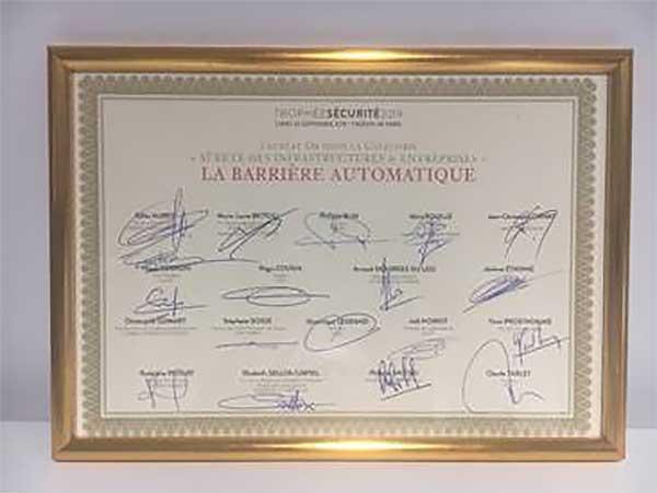 Photo of La Barrière Automatique remporte les Trophées de la Sécurité 2019