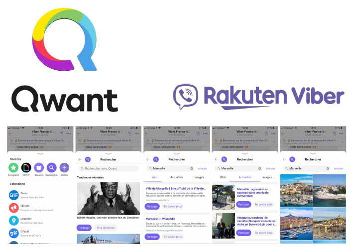 Photo de Qwant et Rakuten Viber proposent une messagerie respectant la vie privée