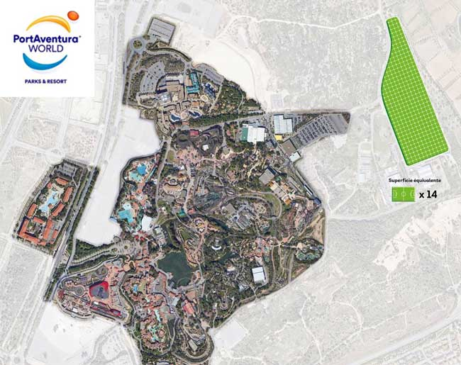 Photo de PortAventura World va se doter de la plus grande installation photovoltaïque d'Europe