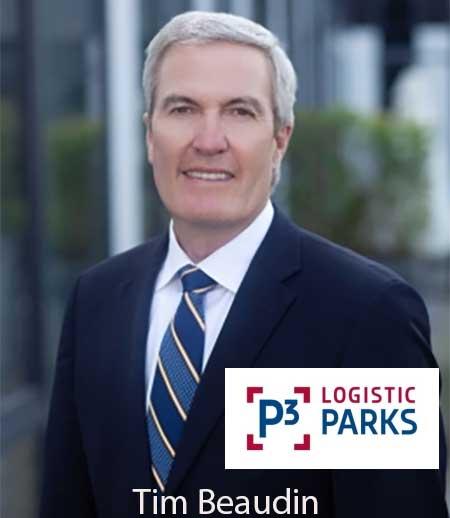 Photo de Tim Beaudin est nommé PDG de P3 Logistic Parks