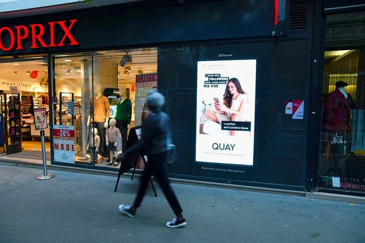 Photo of JCDecaux innove sur les écrans de Monoprix