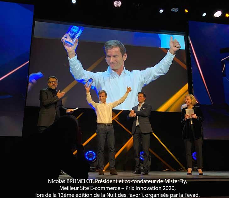 Photo of MisterFly élu meilleur site e-commerce de l'année avec le Prix Innovation 2020 de la FEVAD