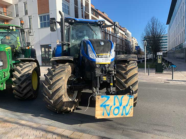 Photo de Manifestation d'agriculteurs à Orléans